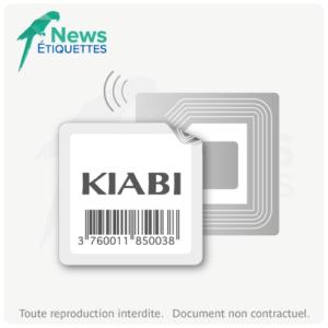 Etiquette intelligente NFC NTAG203 préchargée en données impression noire
