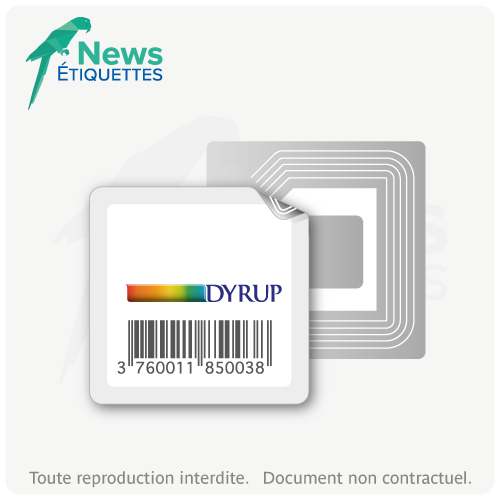 Etiquette intelligente NFC NTAG203 vierge en données impression couleur