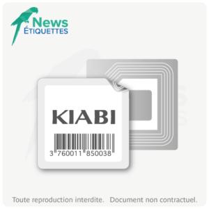 Etiquette intelligente NFC NTAG203 vierge en données impression noire