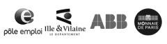 Pole Emploi, le Déparement Ille et Vilaine, ABB, Monnaie de Paris - Références NewsEtiquettes