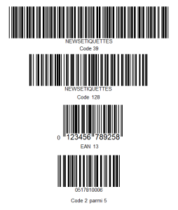 Etiquette code-barres - Digits